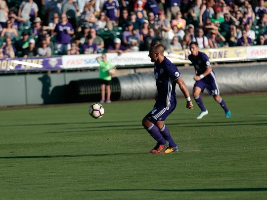 Ilija Ilic takes a penalty kick during Saturday's game