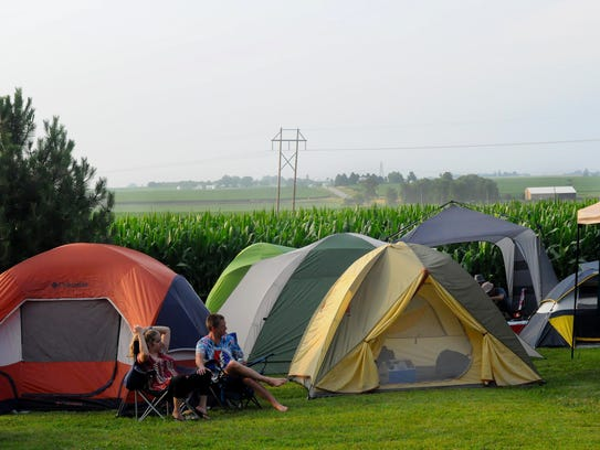 Concert-goers from around the Midwest gathered for