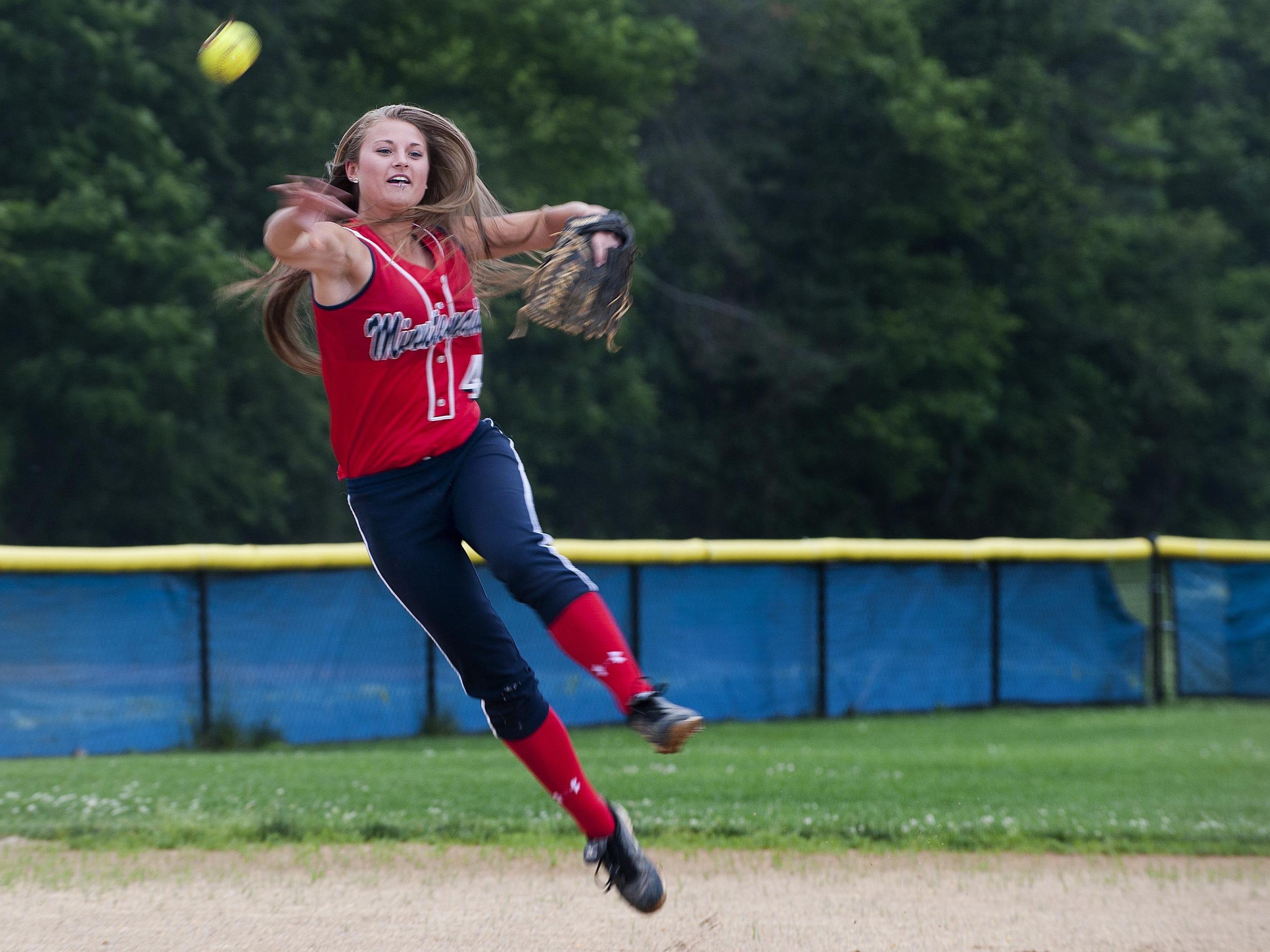 Washington Township shortstop Jess Hughes was named to the CBS MaxPreps All-American Team on Thursday. She will play at Fordham University next season.