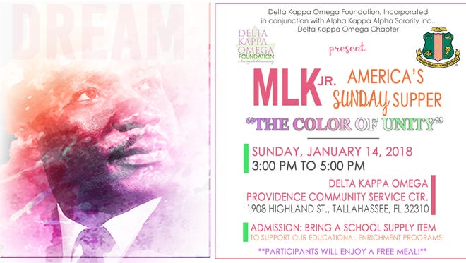 Flier for the MLK Weekend community supper