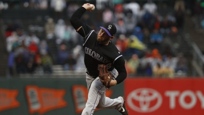 Greg Holland needed just five pitches to shut down the Giants and earn his seventh save Sunday.