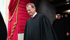 Supreme Court Chief Justice John Roberts arrives for