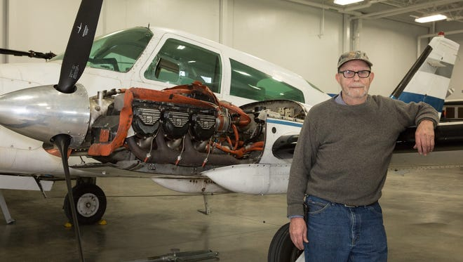 Richard Link, 76, is a freshman in the Central Campus Aviation Technology Academy. Link also volunteers at the Iowa Aviation Heritage Museum in Ankeny and wants to learn more aircraft maintenance.