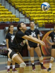 Annie Acosta, a Junior on the New Mexico State Volleyball
