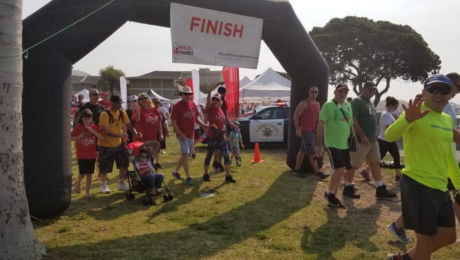 Walkers head out for last year's Walk Like MADD in Ventura, which raises funds to fight drunken driving in Ventura County.