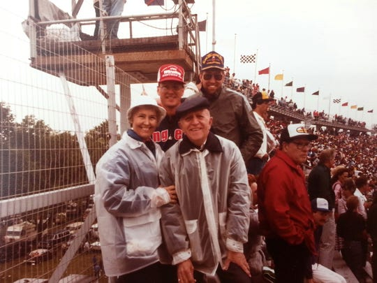 Anna Williams and her family at the Indianapolis 500.