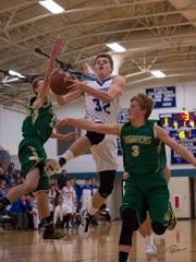 Senior center Cameron Gaulke ranks second on Amherst