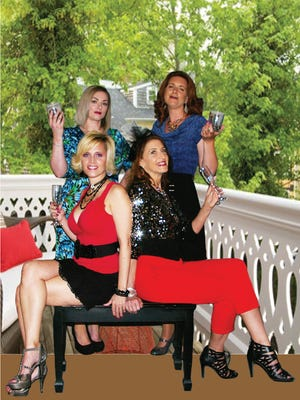"""The ladies of """"The Savannah Sippin' Society,"""" standing, from the left, Misty Rogers and Amy Snider, seated,   Tracey Webb and Joan Lillard."""