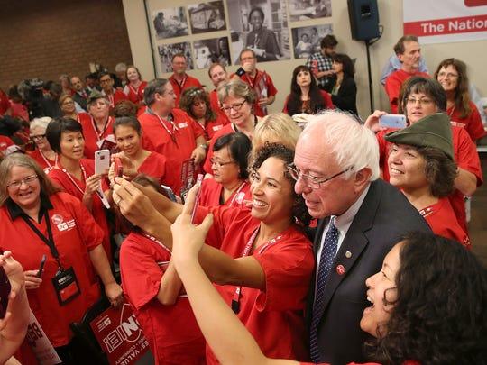Presidential candidate U.S. Sen. Bernie Sanders (I-VT)