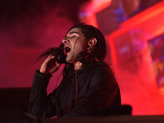 Skrillex performs at the Reno Events Center on May