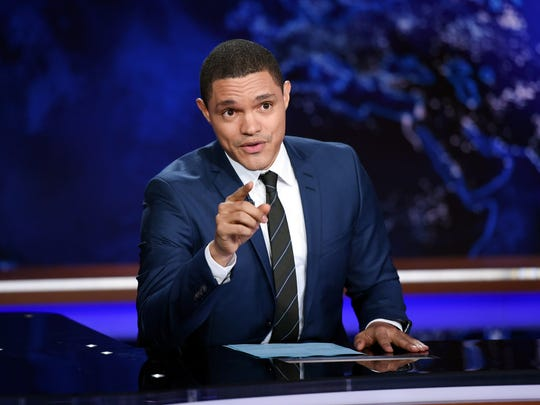 Trevor Noah on the set of  'The Daily Show with Trevor