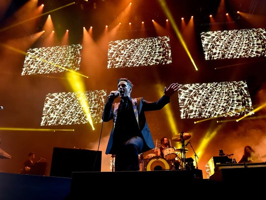 Brandon Flowers of The Killers performs onstage during