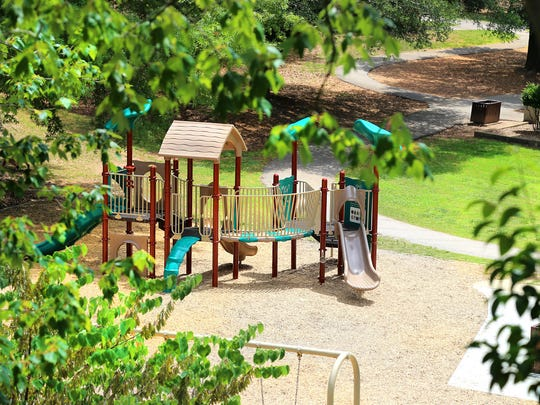 McPherson Park is located near downtown Greenville. A secret play area is one of its cool features.