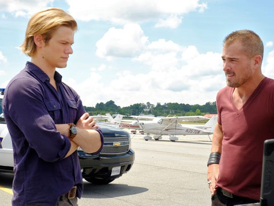 Lucas Till (with George Eads, right) is CBS' new 'MacGyver.'