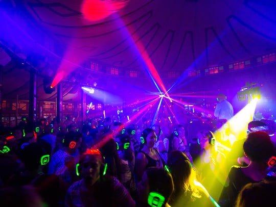 The Silent Disco is back at The Spiegeltent.