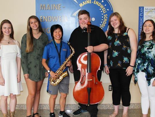 From left, Maggie Milano, Halie Carden, Lauren McCarthy,