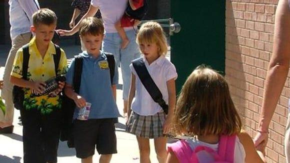 Sawyer Bland's first day of kindergarten was made easier