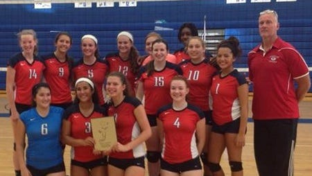 John Glenn's volleyball team is pictured after winning Saturday's Adrian Invitational.