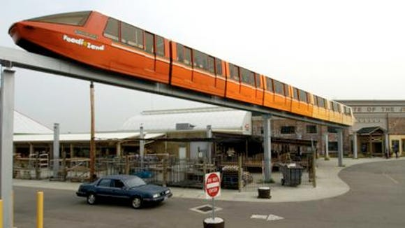 One of seven monorail trains from Kings Island's old Lion Country Safari.