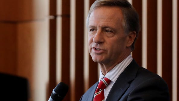 Governor Bill Haslam speaks during an event held at