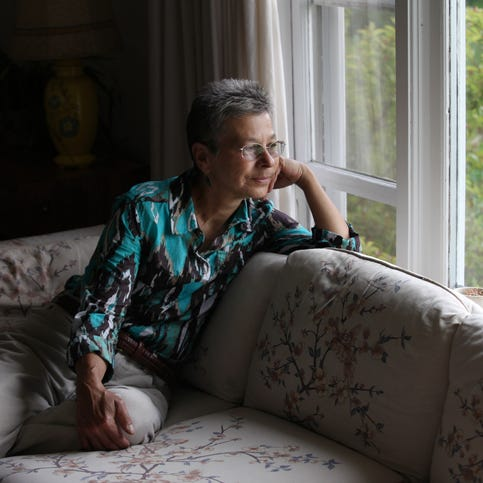 Laura Tasheiko in her home in  Northport, Maine.
