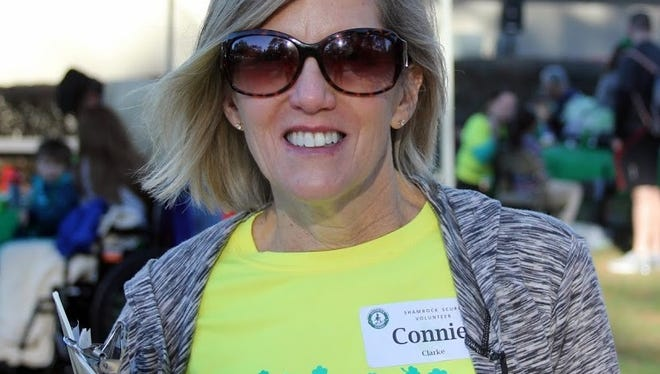 Connie Clarke, co-race director of the Shamrock Scurry 5K