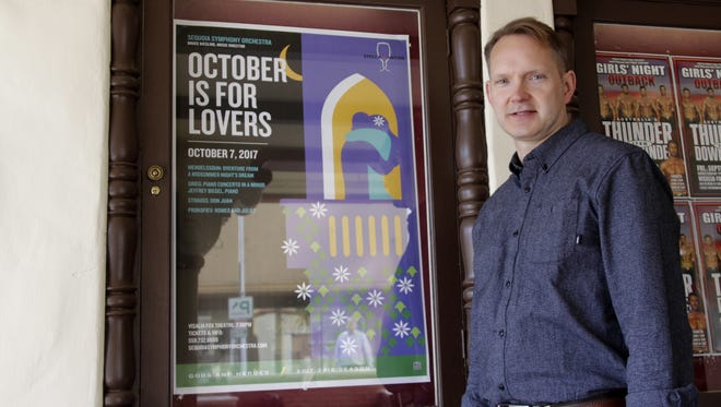 """Bruce Kiesling, Sequoia Symphony Orchestra music director, and the orchestra will present """"October is for Lovers"""" at Visalia's Fox Theater on Saturday, Oct. 7"""