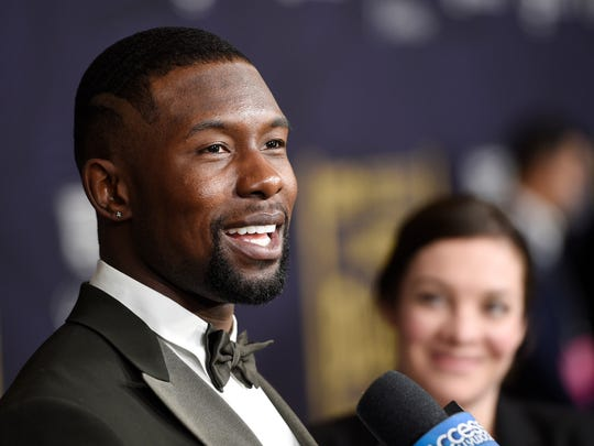 "Actor Trevante Rhodes, a cast member in the film ""Moonlight,"""