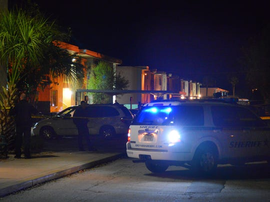 A BCSO deputy shot and killed an armed robbery suspect at an apartment complex at 211 Caroline St . in Cape Canaveral.