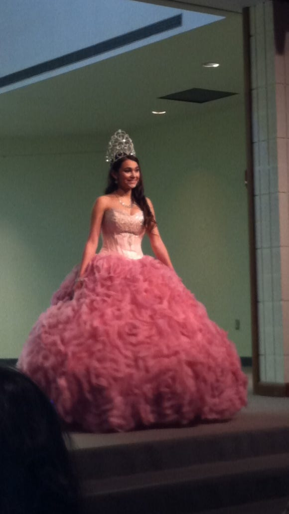 Quinceanera fashion show.