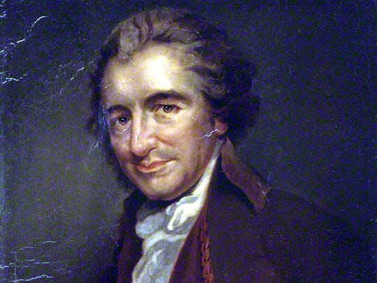 "Writing in his ""Rights of Man,"" Thomas Paine wrote, ""Independence is my happiness, and I view things as they are, without regard to place or person; my country is the world, and my religion is to do good."""