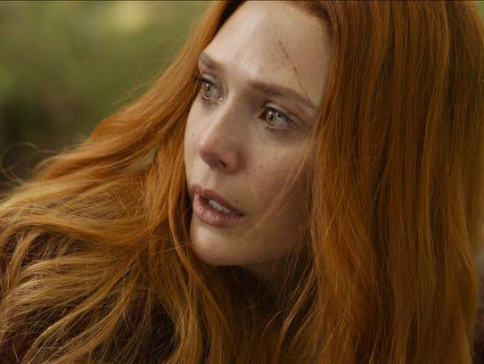 Elizabeth Olsen plays Scarlet Witch/Wanda Maximoff