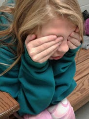 """Catie Vest was """"it"""" and performs the traditional hide-and-seek"""