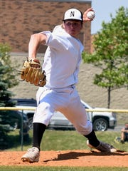 Northville left-hander Connor Ziparo fires a pitch