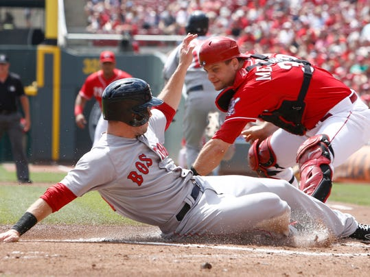 horiz Red Sox Reds Baseball