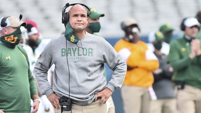 Baylor head coach Dave Aranda will have to wait until December to play No. 7 Oklahoma State. The game, slated for Saturday, was postponed because of the Bears' COVID-19 cases.