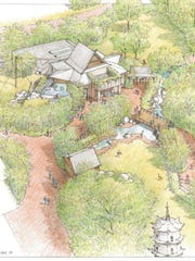 This drawing shows an overview of Tiger Forest, now