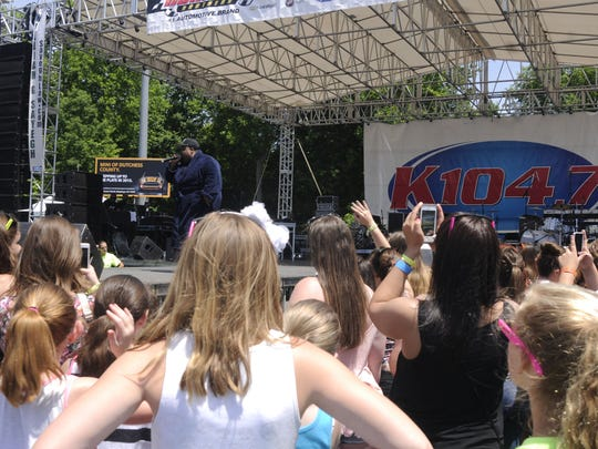 LunchMoney Lewis performs at KFest 2015 at Dutchess Stadium.