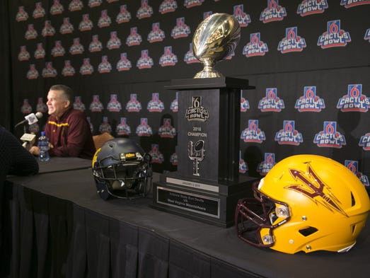 ASU head football coach Todd Graham speaks to the media