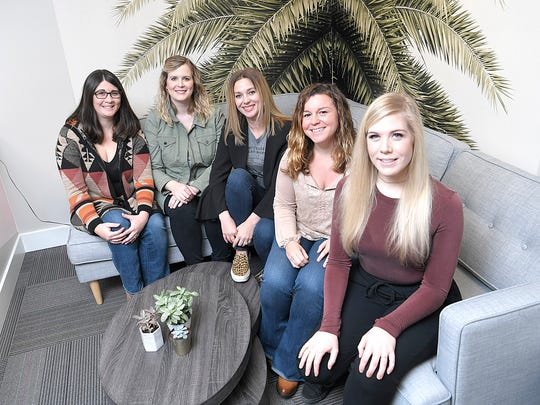 Girlilla Marketing's executives are Stevie Zea Escoto, left, 