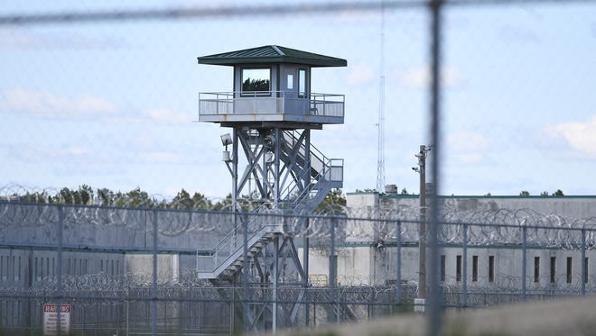 """Lee Correctional Institution on Monday, April 16, 2018 after a """"mass casualty incident"""" overnight at the institution in Bishopville left seven inmates dead and 17 others requiring medical attention."""