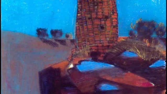"""Hovenweep Round Tower at Night, Summer 1996"" by Sonja Horoshko is featured in the artist's ""Refined & Unrefined"" exhibition opening this weekend in Aztec."
