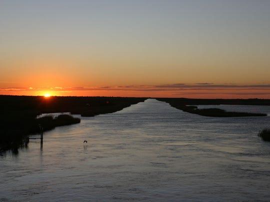 Sabine National Wildlife Refuge at sunset