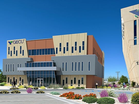 This rendering shows what GECU's addition will look