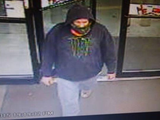A suspect was captured on video surveillance prior to robbing a gas station on Nov. 26.