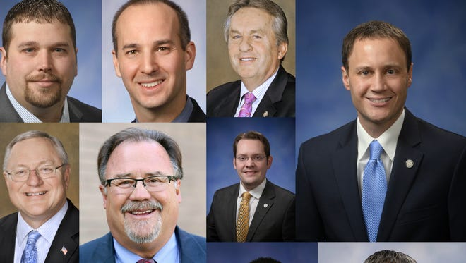 A collage of provided photos of the 11 lawmakers who represent Greater Lansing in the state House and state Senate.