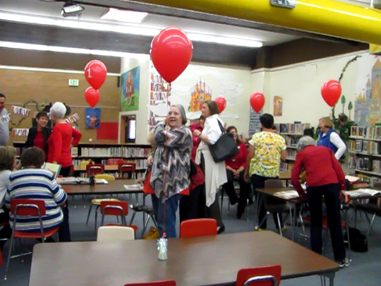 Current and former employees and students of East Elementary gather for a final reunion Friday before the school is transferred to Dixie State University and the students move to the new Legacy Elementary, which is expected to occur early next year.