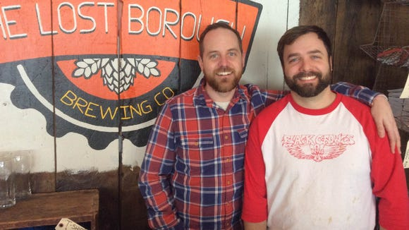 Dave Finger (left) and Dan Western are the brains behind Rochester's Lost Borough Brewing Co. The new Rochester brewery holds its grand opening this Saturday.