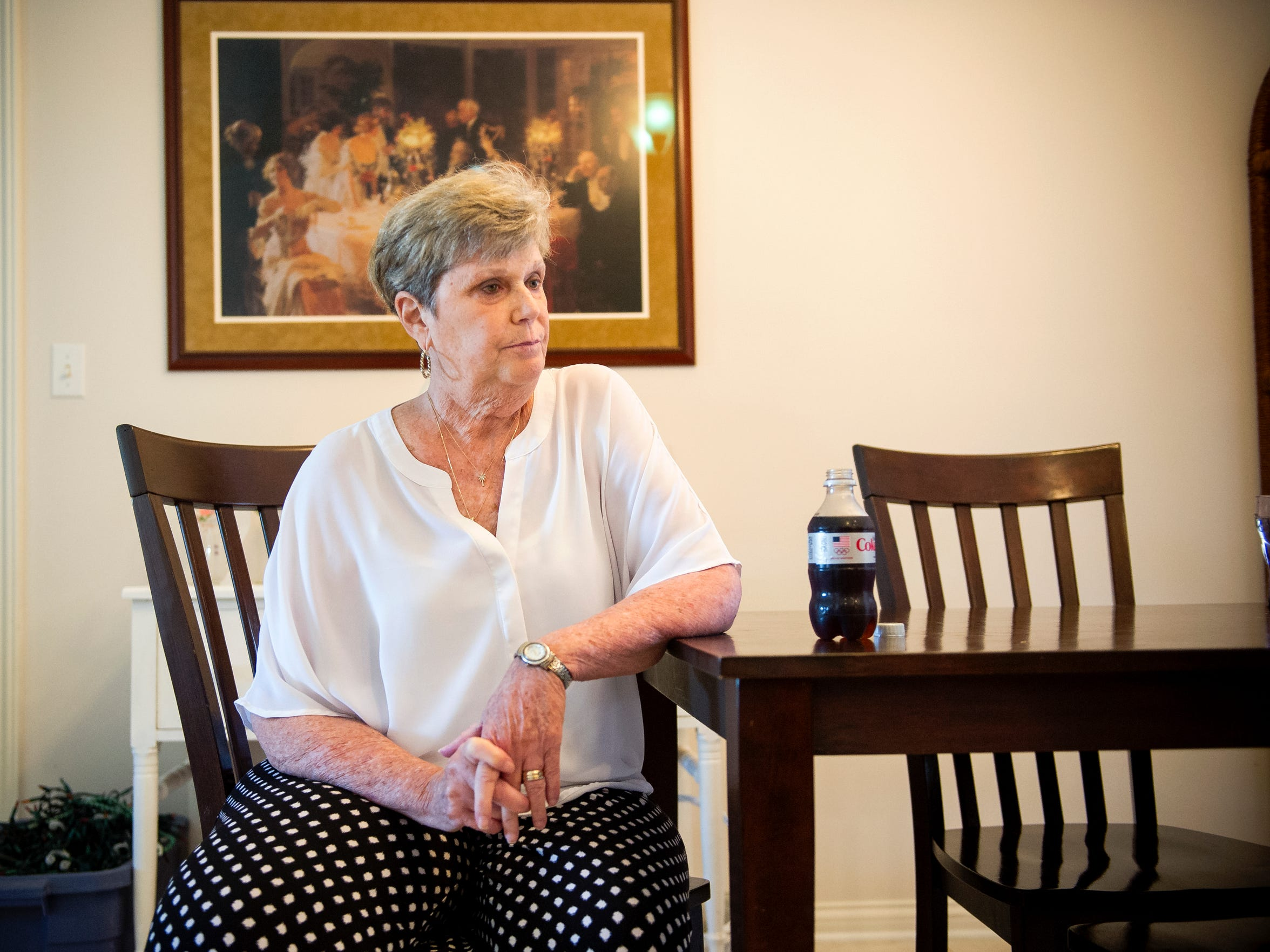 Carole Morton, of Evansville sits at her dining room table while waiting for her husband, John's nurse to arrive to administer his weekly infusion of Prolastin-C, a drug which treats alpha-1 antitrypsin deficiency, Thursday Aug. 25, 2016. Both Carole and John have been living with alpha-1 antitrypsin deficiency, a genetic disorder that can lead to lung and liver diseases. In June Carole found out she has cancer that has spread to her lungs, she's been told she has anywhere from 3-14 months to live.