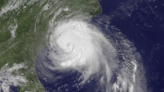 Hurricane Arthur, one of the few storms to affect the U.S. last year, spins up the East Coast in July 2014.
